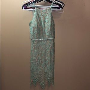 High Neck Mint Green Homecoming Dress size 1